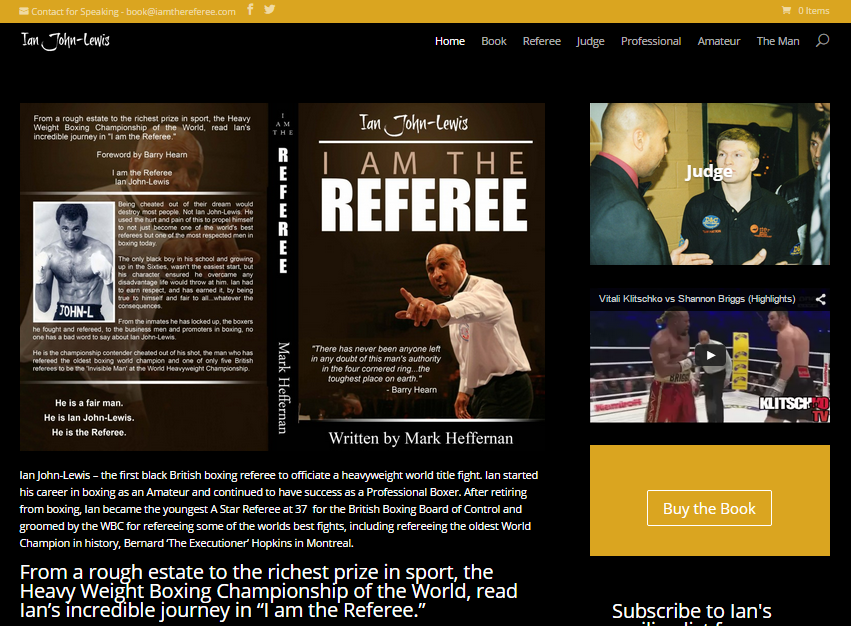 'I am The Referee' book launch November 12th
